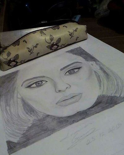 Big Adele Sje won a grammy so she deserves a draw! Im kidding, shes a great singer and writer, I draw her because of that! Adele Grammy Drawing Adeledrawing