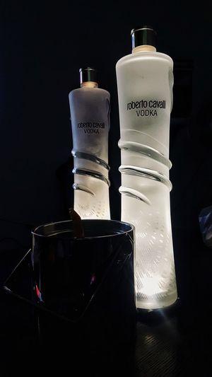 #roberto_cavalli Vodka🍹 RobertoCavalli Black Background Drink Studio Shot Frozen Food Drinking Glass Bottle Jar Table Close-up Food And Drink