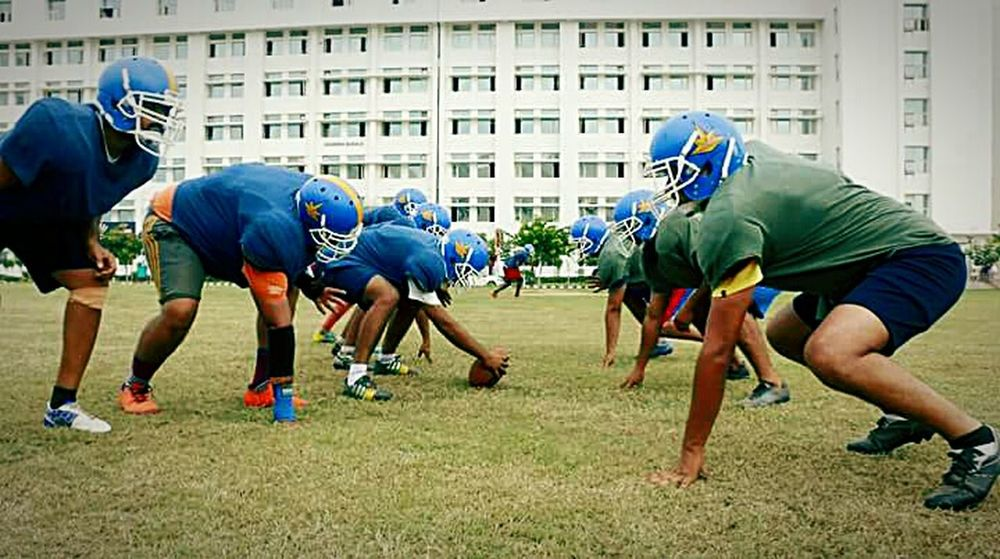 Going The Distance American Football CHANDIGARH UNIVERSITY Phone Photography Eyeemphotography Taking Photos Amazing View EyeEm Gallery Capturing Movement Composition