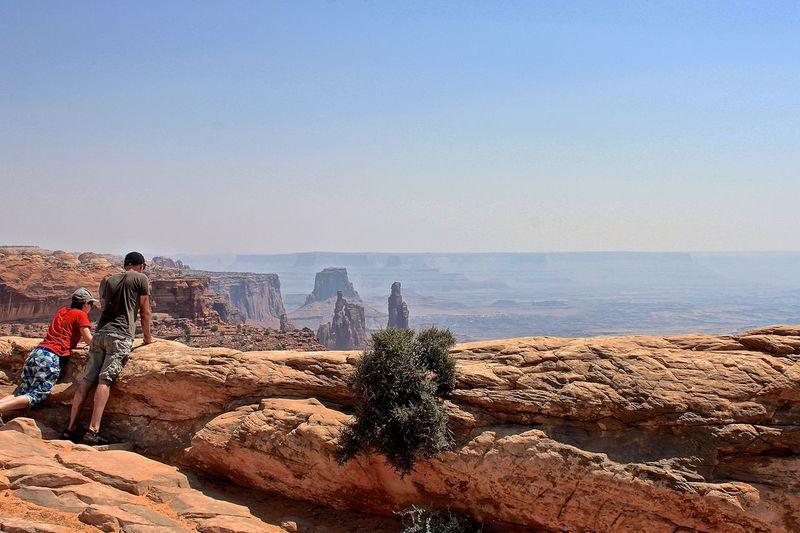 Tourists at canyonlands national park