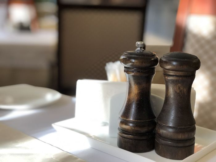 Close-up of tea served on table in restaurant