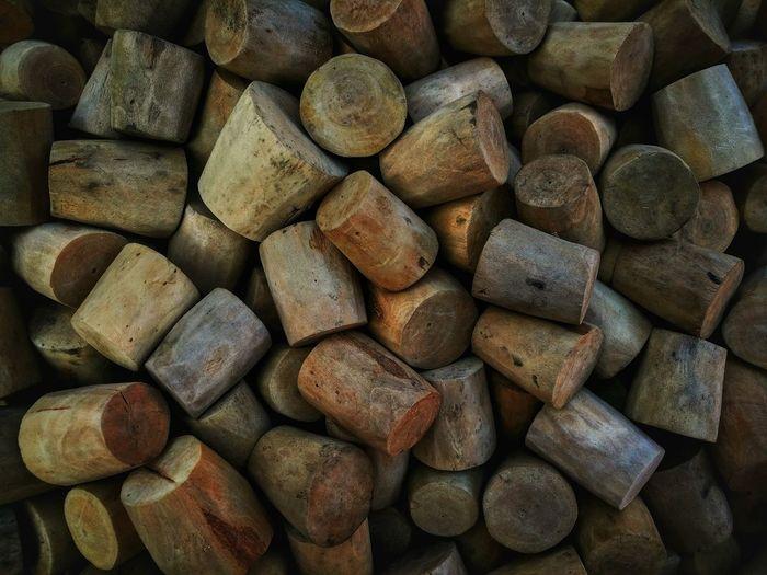Full Frame Shot Of Corks