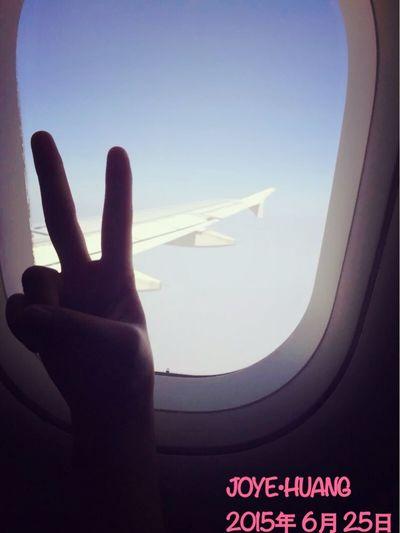 前几天去SHANGHAI的时候在飞机上拍的✌️😃 开心 旅游