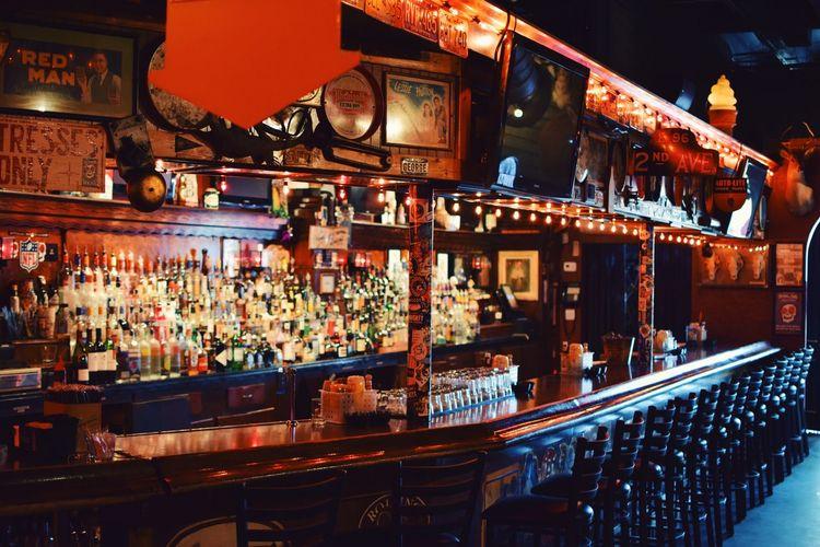 Nightlife City Illuminated Bar - Drink Establishment