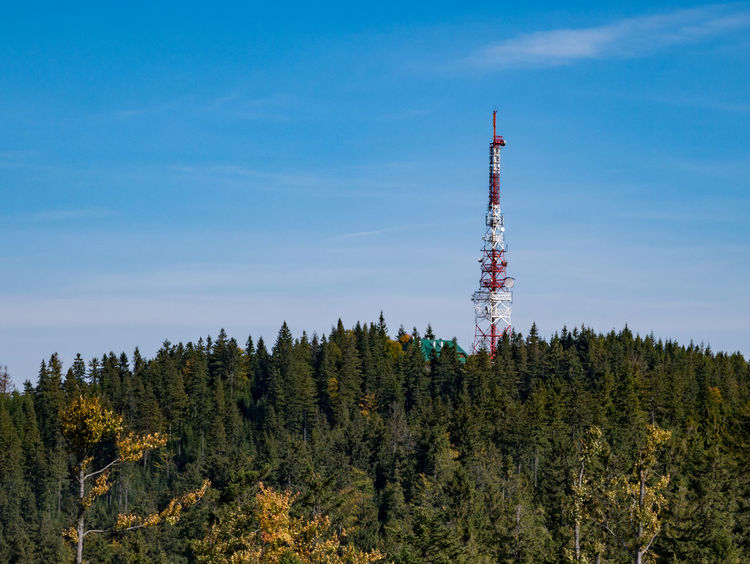 Radio communication tower in the mountains. Construction Gsm Industry Low Angle View Radio Antenna Blue Sky Broadcasting Communication Day Digital Media Frequency Information Nature No People Outdoors Remote Sky Steel Technology Transmission Tower Wireless Technology