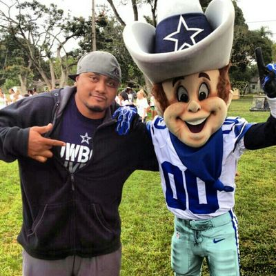 NFL play60 at my job..got to take a pic with the Cowboys mascot.. #cowboynation #dallascowboys