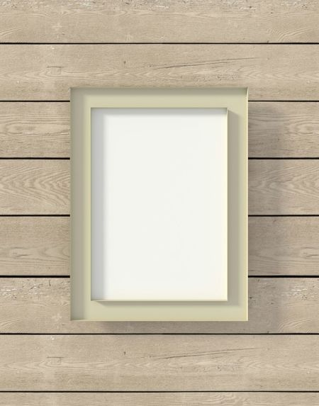 Frame Photoframe Woodenframe Wooden Wall Brown Boards Display Stockphoto Rectangular Empty