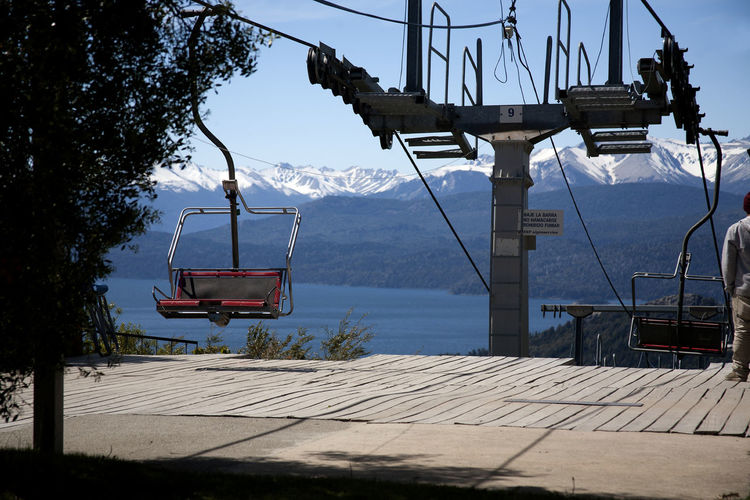 Cerro Campanario Chairlift. Behind Nahuel Huapi Lake. Bariloche Argentina Lifting Platform Cerro Campanario Bariloche Argentina Patagonia Argentina Chairlift Travel Destinations Lake Los Andes Nahuel Huapi Nahuel Huapi Lake Panoramic View Argentina Bariloche Day Panoramic Point Patagonia Patagonia Argentina Sky Mountain Ski Lift Hanging Transportation Scenics Cable