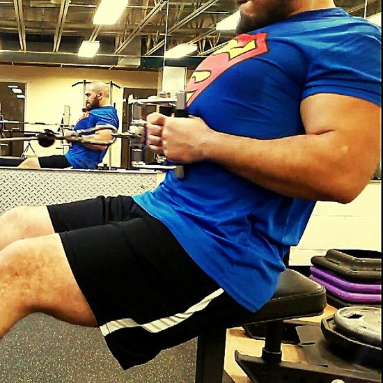 PowerLifting❤ Powerbuilding Powerlifter Rows Superman Bearded