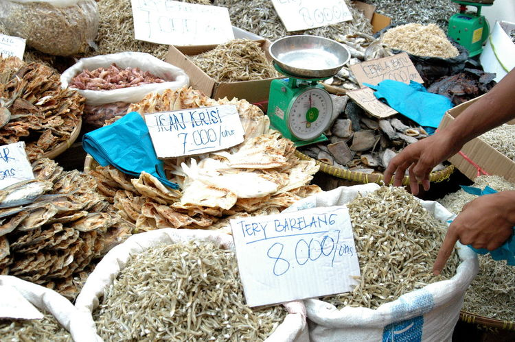 Business For Sale Healthy Eating High Angle View Human Body Part Human Hand Market Market Stall One Person Outdoors Price Tag Retail  Seafood Text Variation
