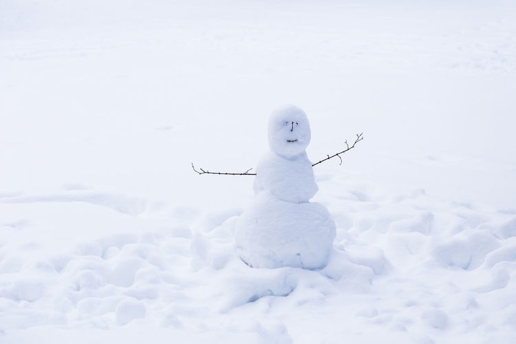 Snowman On Field During Inter