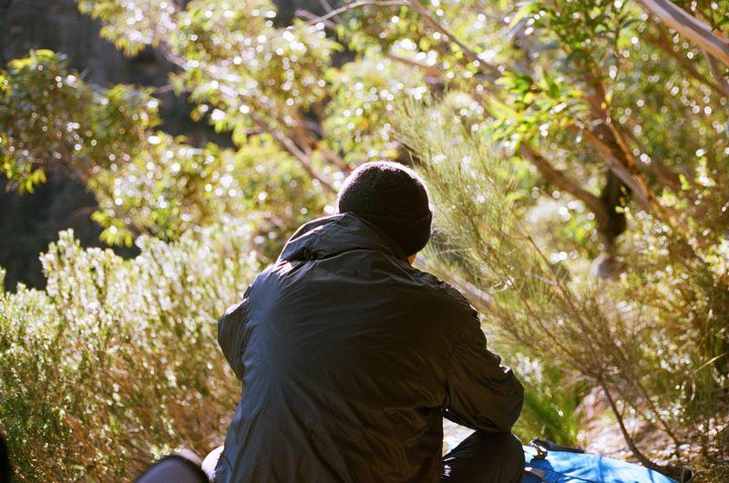 Man enjoying outdoor activities