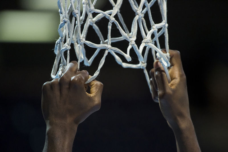 basketball player is holding a net Basketball Adult Basketball - Sport Black Background Body Part Care Close-up Finger Focus On Foreground Hand Holding Human Body Part Human Finger Human Hand Human Limb Indoors  Leisure Activity Lifestyles Love Men Net One Person Personal Perspective Real People Sport Unrecognizable Person