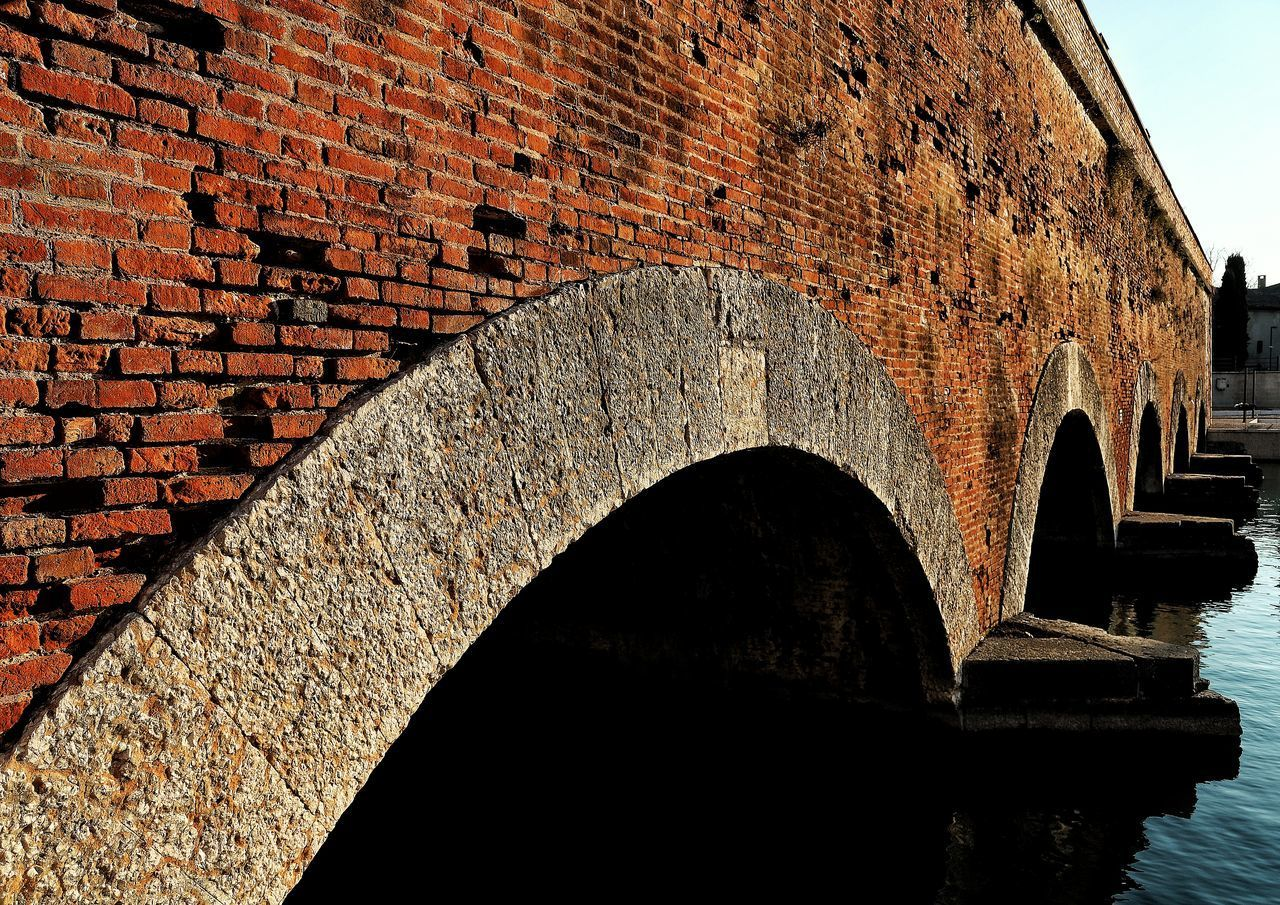 architecture, built structure, wall, brick, brick wall, no people, arch, day, wall - building feature, building exterior, history, nature, the past, water, outdoors, old, building, ancient, connection