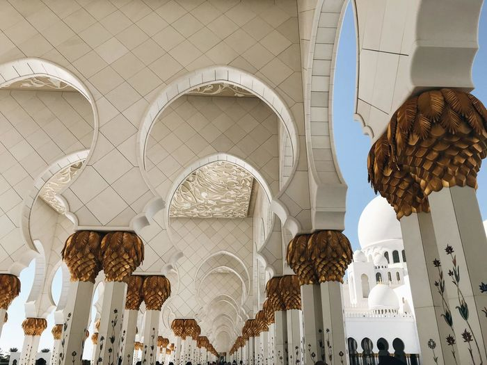 Arch Architectural Column Architecture Architecture And Art Art And Craft Belief Building Building Exterior Built Structure Ceiling Creativity Day Hanging Low Angle View No People Ornate Place Of Worship Religion Spirituality Travel Destinations