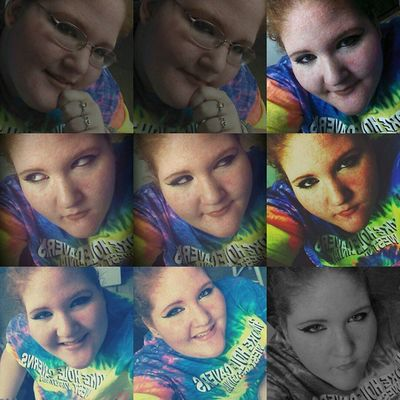 Make up 💄 Bored Blonde_and_red_hair Hazel Eyes  Happy Smile Make Up Blackandwhite