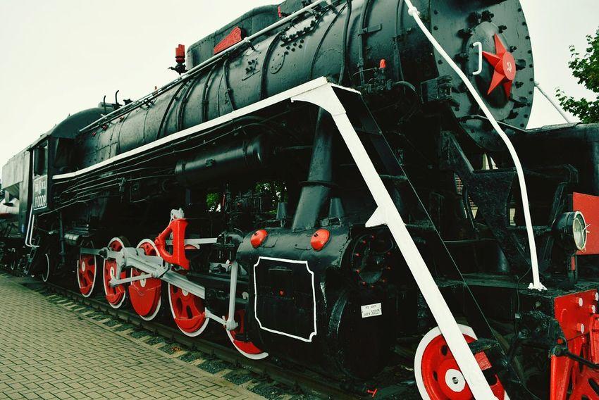 Taking Photos Photography Steam Locomotive Steam Engine Retro Train Train Museum Belarus Brest Train Wheels