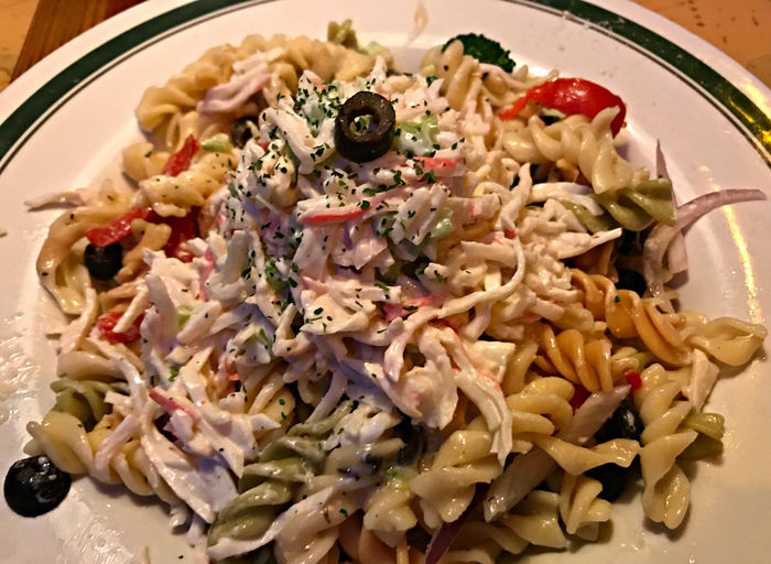 Seafood Close-up Food Food And Drink Freshness Healthy Eating Indoors  Italian Food No People Pasta Pasta Salad Plate Ready-to-eat Seafood Seafood Salad Serving Size