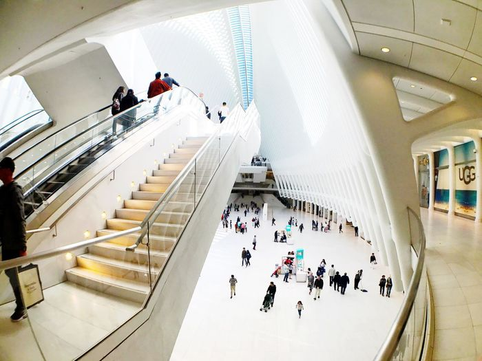 Oculus Group Of People Large Group Of People Crowd Real People Architecture High Angle View Indoors  Built Structure Shopping Mall Modern Ceiling EyeEmNewHere EyeEmNewHere
