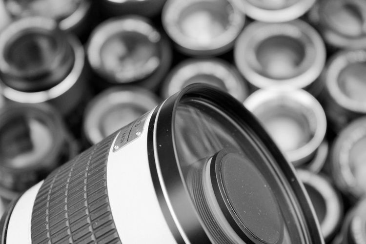 Backgrounds Bokeh Camera - Photographic Equipment Close-up Communication Day Dreaming Focus On Foreground Indoors  Lens Ludlow Shropshire Metal Monochrome Photography No People Olympus OM2n Optics Retro Samyang Technology