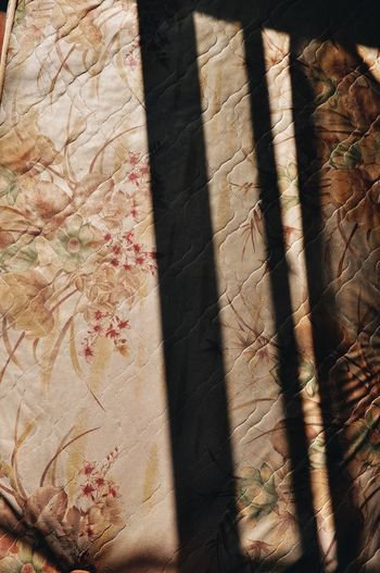 Room Sunset Bed Bedroom Pattern Full Frame Shadow No People Backgrounds Sunlight Textured  Curtain Design Creativity Textile Indoors  Focus On Shadow High Angle View