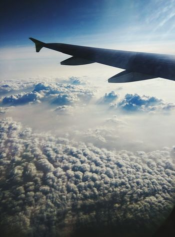 Noon sky Taking Photos From An Airplane Window On The Plane ✈ On The Way Home miss home alot