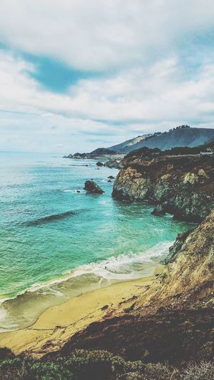 Big Sur, California Scenics Sky Sea Beauty In Nature Nature Been There. Lost In The Landscape Big Sur, California. Big Sur Ocean View Oceanside Big Sur CALIFORNIA Connected By Travel Travel Destinations Tranquility Tranquil Scene Horizon Over Water