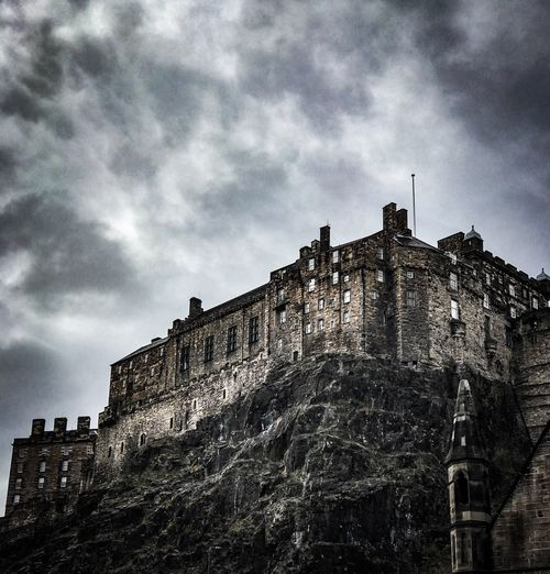 Edinburgh Castle Low Angle View Cloud - Sky Building Exterior Built Structure Castle History Sky Day Outdoors Fort No People Travel Destinations The Week On EyeEm
