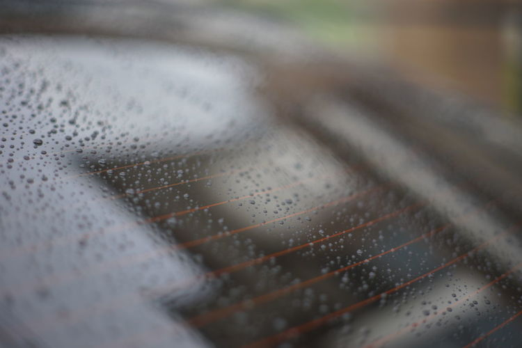 Detail shot of wet car