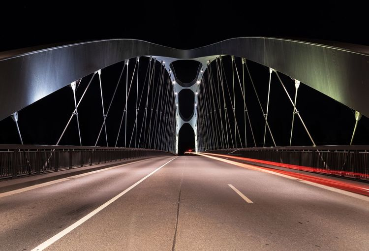 Drive By Suspension Bridge Bridge Light Trail Transportation Road The Way Forward Direction Bridge Bridge - Man Made Structure Night Connection Built Structure Architecture Illuminated Diminishing Perspective Rear View City Engineering My Best Travel Photo