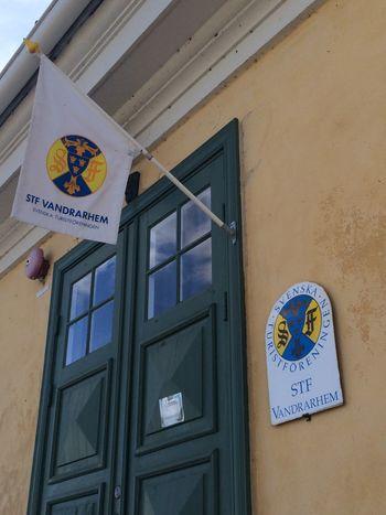 Youth hostel in Sweden Entrance Ljugarn Sweden Flag No People Stf Tourism Vandrarhem Youth Hostel