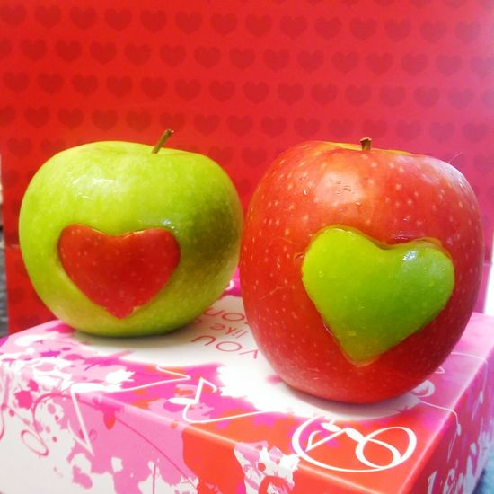Valentines Breakfast For My Girls Apple's With Hearts