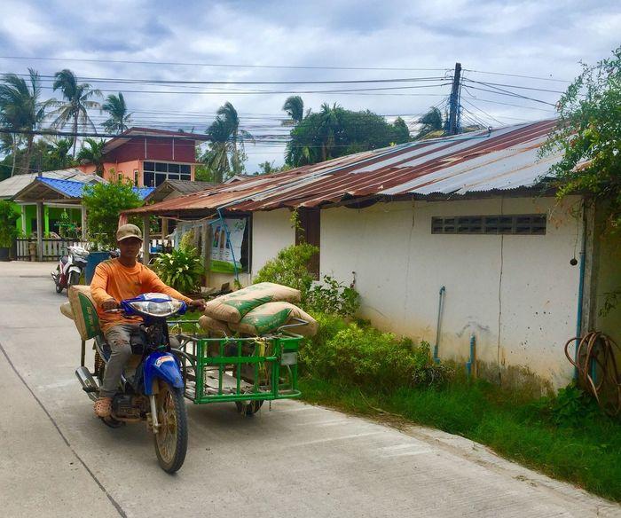 Thailand Man Bike Summer