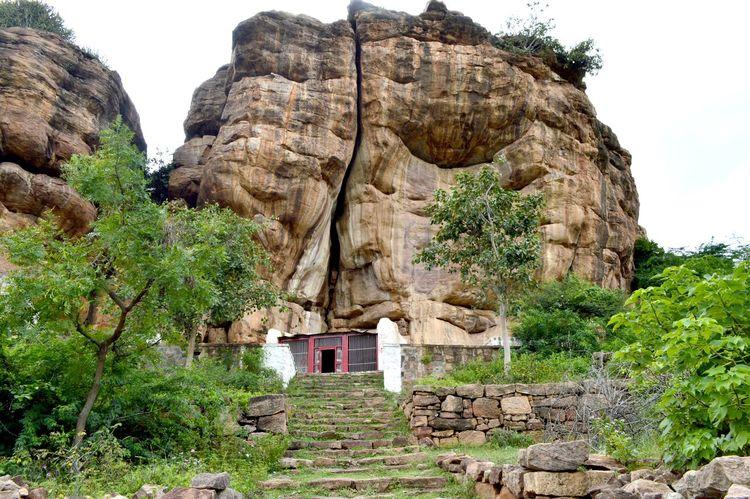 Hanuman cave temple at Badhami Karnataka Travel Photography No People TravelTales First Eyeem Photo
