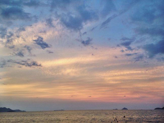 Beach NhaTrang Nha Trang Nha Trang, Vietnam NhaTrangbeach Nhathang Beach Time Sea Sea And Sky Sky Cloud Clouds Sky And Clouds Clouds And Sky Sun Sunset Yellow Sky