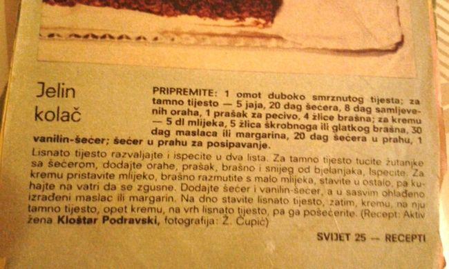 Evo origigi recepta iz Svijeta