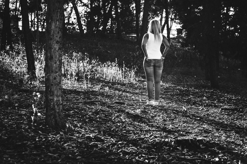 Granada Light SPAIN Woman Blackandwhite Casual Clothing Field Forest Full Length Growth Land Leisure Activity Lifestyles Light And Shadow Nature One Person Outdoors Pantano De Cubillas Plant Real People Standing Tree Tree Trunk Trunk WoodLand