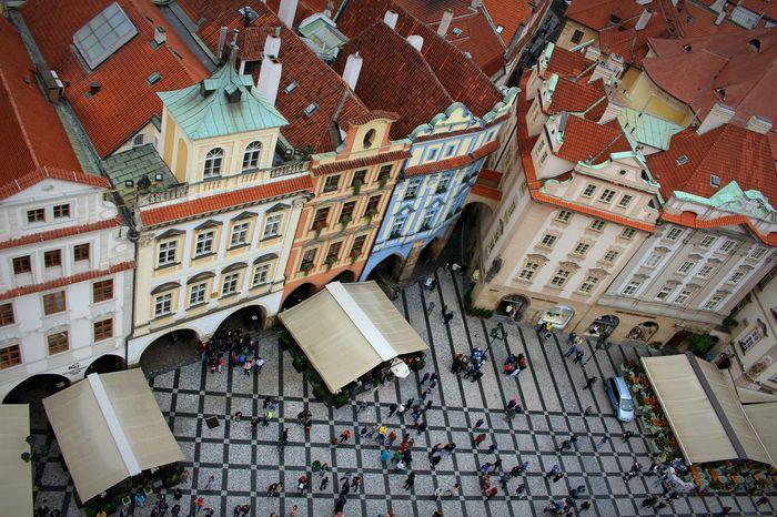 Happy evening 🌸✌️😊 Architecture Picsartrefugees Prague Czech Republic Czech Republic Historic History Praha Prag Travel Sightseeing Prague City Travel Destinations Crowded Street Old Town Square (Staroměstské Náměstí) Staroměstské Náměstí High Angle View