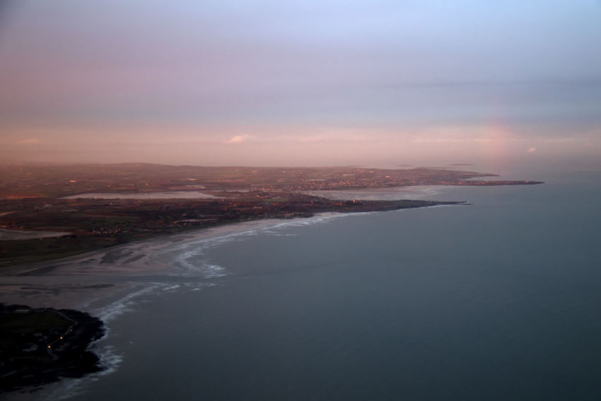 Water Sea Sky Scenics - Nature Beauty In Nature Nature No People Aerial View Beach Land Sunset Environment Tranquil Scene Tranquility Coastline Outdoors Cloud - Sky City Landscape Donabate Ireland