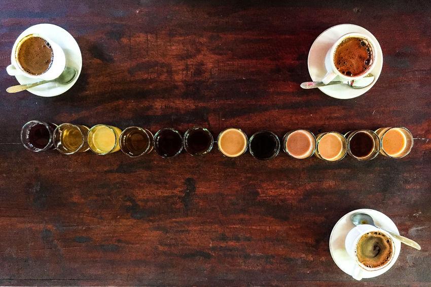 Coffe Cup Coffe Cups Coffee Drink Espresso Food And Drink Luwak Bali Time Luwak Coffee No People Rows Of Things Tea Tea Time Bali Bali Indonesia Bali Coffee