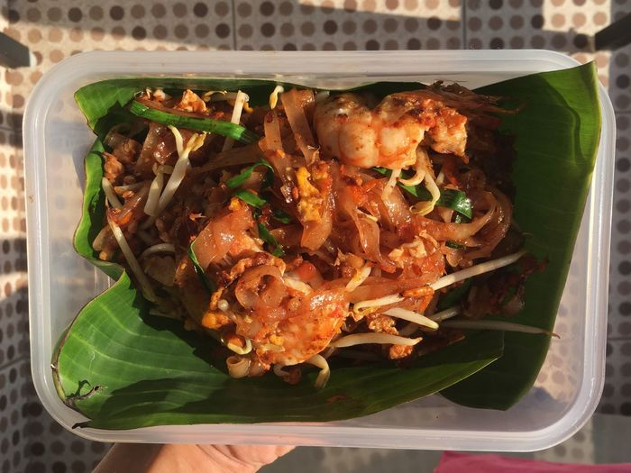PUD THAI ,Traditional Food of Thailand Thai Food Traditional Food Noodles Pud Thai Thailand Street Food Food Freshness Ready-to-eat Indoors  High Angle View Healthy Eating Seafood Close-up Asian Food Vegetable Meat Serving Size Plate