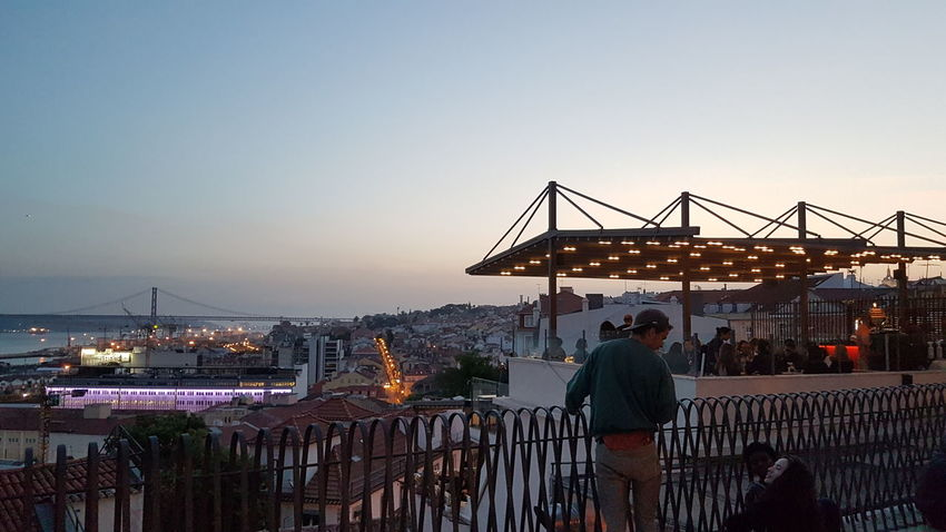 Lisboa Lisbon Lisbonlovers Lissabon Portugal Miradouro Sunset OutdoorsEyeEmBestPics EyeEm Best Shots EyeEm Best Shots - Architecture Eyeemphotography Tranquil Scene P3top Huawei Huaweiphotography HuaweiP9 Travel Destinations City Sky People Urban Skyline Architecture Spring EyeEm