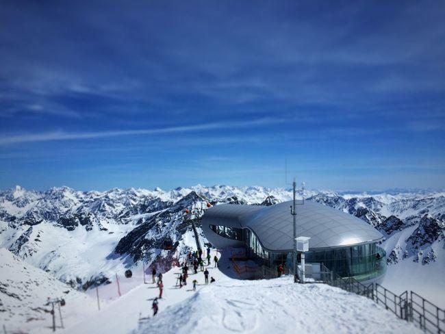 Snowboarding Pitztaler Gletscher 3440 m Cobalt Blue By Motorola RePicture Travel