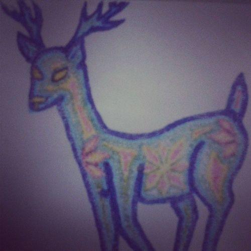 Tratando de dibujar Huichol Venado