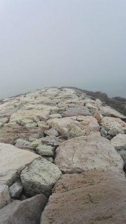 Nature Outdoors No People Water Adriaticsea Beach Sea Clouds Tranquility Fog Prospettive Autumn🍁🍁🍁 Uncolor Original Photo Original Scogliera
