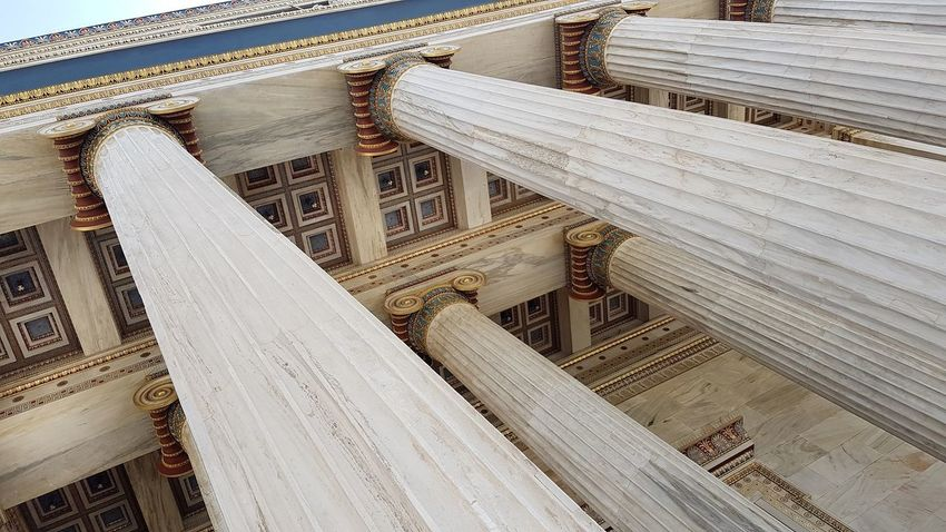 The Academy of Athens Athens, Greece Neoclassical Neoclassical Architecture Columns Buillding Athens Marble International Landmark Entrance Low Angle View Columns City Architecture Building Exterior Built Structure