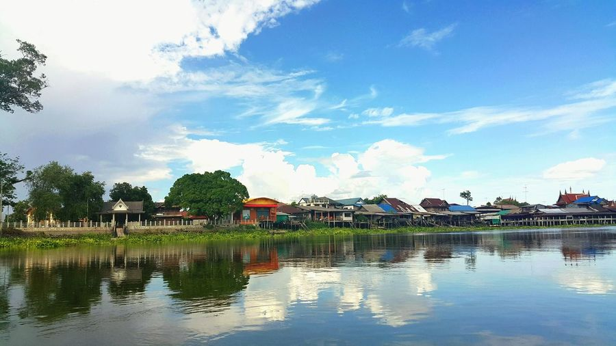 River River View River Collection Riverside Photography Riverview Relaxing That's Me Enjoying Life House And River Amphawa Thailand Mae Klong River Mae Klong