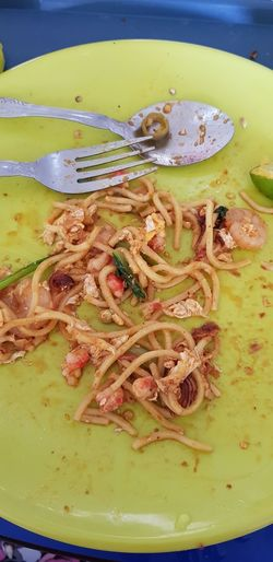 Mee Goreng Fry Noddles Lunch Time! Fastfood Coffeehouse Water High Angle View Plate Close-up Food And Drink Crab - Seafood Seafood Shrimp - Seafood Shrimp Crab