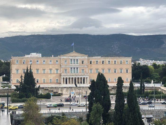 Athens Greece Greek Parliament Colourful Greece Architecture Built Structure Building Exterior Tree Sky Plant Nature Cloud - Sky City Day