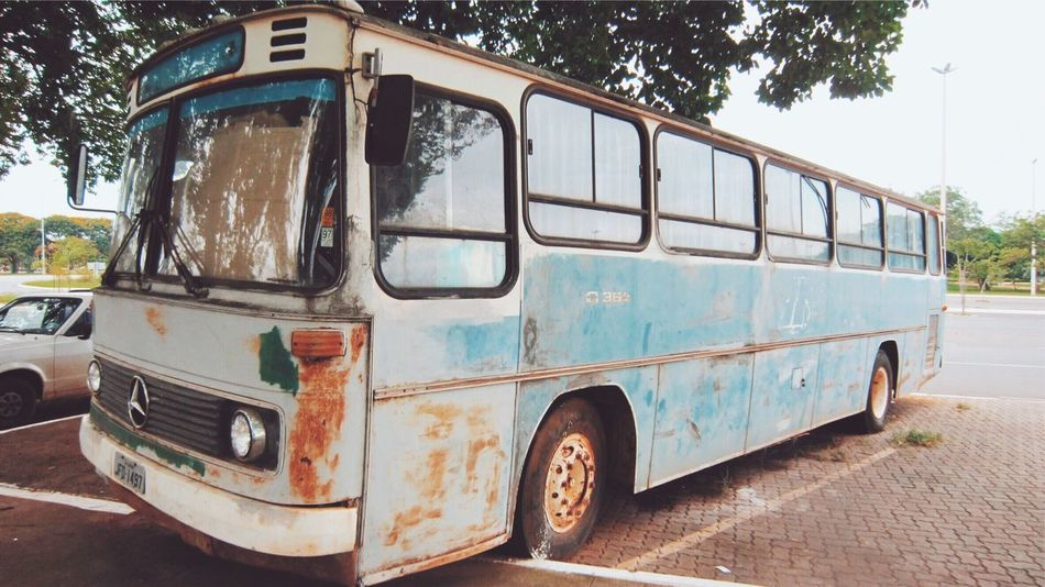 Transportation Land Vehicle Abandoned No People Old Car Rusty Mercedes Travel Bus